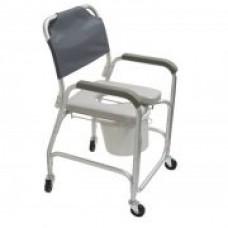 Cadeira Sanitária/Banho de Alumínio com Assento Almofadado