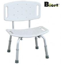 Cadeira de Banho Fixa em Aluminio de Altura Variável